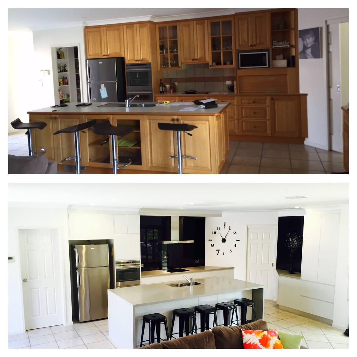 before and after kitchen renovation lifestyle kitchens joinery
